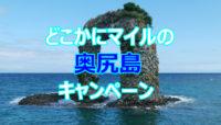 どこかにマイルの奥尻島に行けるキャンペーンは新千歳経由だと厳しい