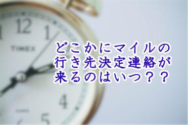 【どこかにマイルの素朴な疑問】申し込み後行き先が決まるのはいつ?